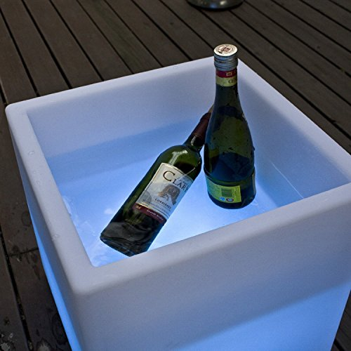 Mr.Go Outdoor/Indoor Rechargeable LED Light SEMI-STORAGE CUBE 16'', Cordless with Remote Control RGB Color Changing Glowing Furniture Cabinet Container End Table Ice Bucket Flower Pot Planter by Mr.Go (Image #7)