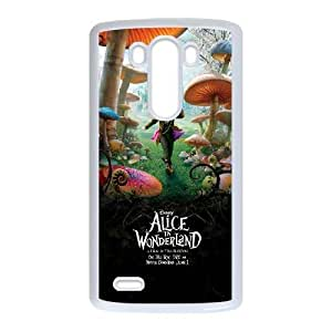 LG G3 White Phone Case Alice in Wonderland Rational Cost-effective Surprise Gift Unique WIDR8611005717