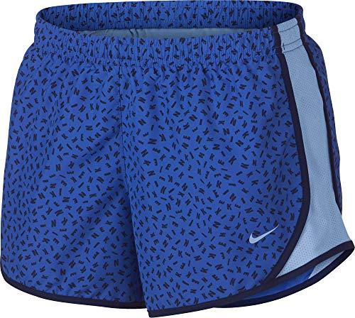 e303608b6f88 NIKE Girl's Dry Tempo Printed Running Shorts (Binary Blue/Royal Tint, Small)