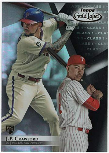 2018 Topps Gold Label Baseball Class 1 Black #79 J.P. Crawford Philadelphia Phillies RC Rookie Official MLB Trading Card