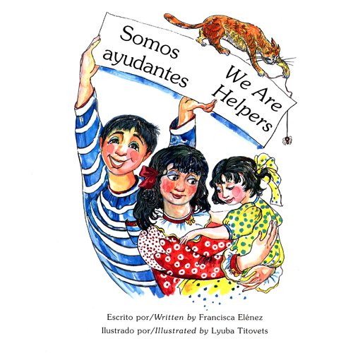 Somos ayudantes / We Are Helpers (Bilingual Book/Audio CD/Coloring Book) by Lake Educational