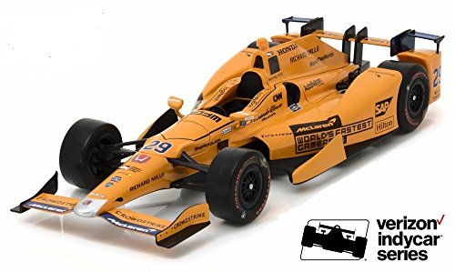 2017 # 29 Fernando Alonso Rookie of the Year Diecast Model in 1 : 18スケールby Greenlightの商品画像