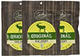 Jerky.com s Original Elk Jerky - 3 PACK - The Best Wild Game Elk Jerky on the Market - 100% Whole Muscle Elk - No Added Preservatives, No Added Nitrates and No Added MSG - 6 total oz.