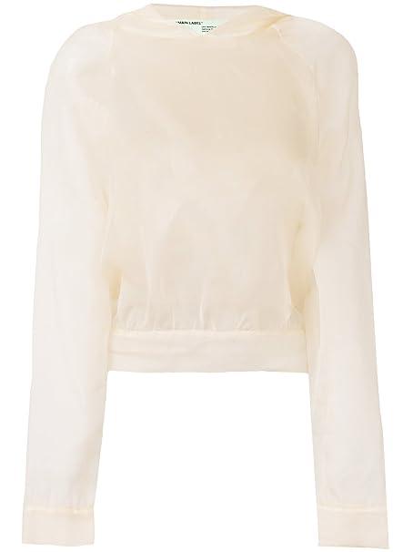 OFF-WHITE - Sudadera - para mujer beige y blanco 42 : Amazon.es: Ropa y accesorios
