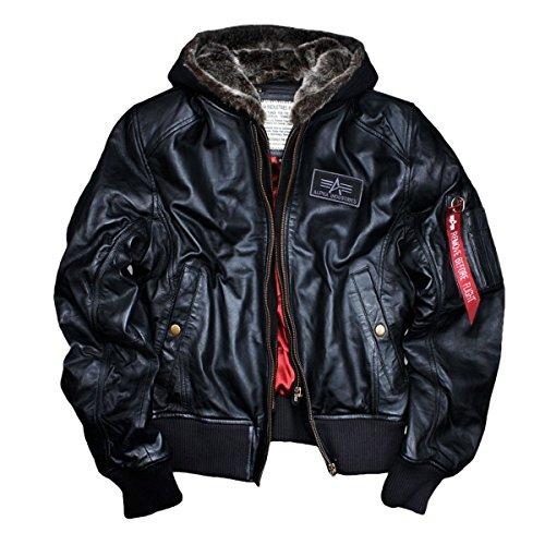 Uomo Nero Giacca Alpha Industries Camicia Hntnfq