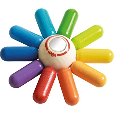 HABA Rainbow Sun Wooden Clutching Toy Rattle & Teether: Toys & Games