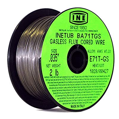INETUB BA71TGS .035-Inch on 2-Pound Spool Carbon Steel Gasless Flux Cored Welding Wire - Arc Welding Accessories - .com