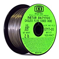 INETUB BA71TGS .035-pulgada en alambre de soldadura de flujo sin gas de acero al carbono con carrete de 2 libras