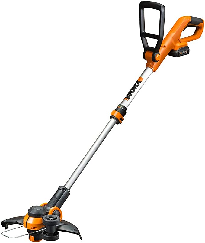"""Amazon.com : Worx WG162 20V 12"""" Cordless String Trimmer/Edger, Battery and Charger Included, Black and Orange : Garden & Outdoor"""