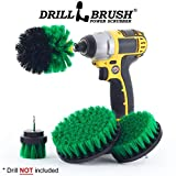 Drillbrush 4 Piece Drill Brush Cleaning Tool Attachment Kit for Scrubbing/Cleaning Tile, Grout, Shower, Bathtub, and all other General Purpose Scrubbing