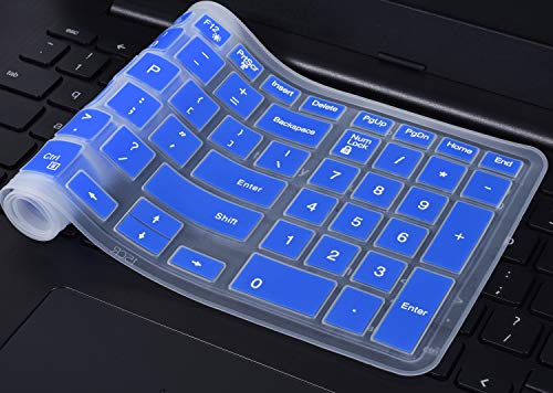 Keyboard Cover Compatible 2018 Flagship Dell G3/G5/G7 Series, 15.6 inch Dell Inspiron 15 3000 5000 7000 Series, 17.3 Dell Inspiron 17 5000 Series, 17.3 Dell G3 Series(with Numeric Keypad), Blue