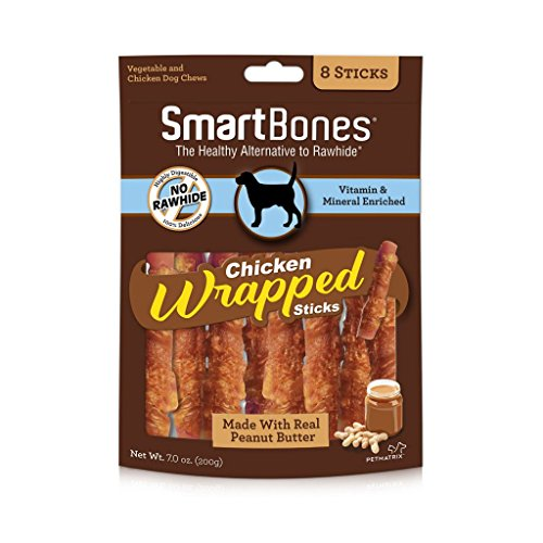 Cheap Smartbones Chicken-Wrapped Sticks For Dogs With Real Peanut Butter, 8 Count