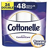 Cottonelle Toilet Paper, 24 Double Rolls, 142 Sheets Per Roll, 2-ply, Ultra ComfortCare, Soft Bath Tissue, Biodegradable, Septic-Safe