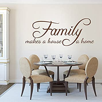 Amazoncom Family Wall Quotes Family Makes A House A Home