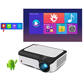 YHML Full HD 1080P Proyector Smart (2 GB + 16 GB) Android 7.1WIFI ...