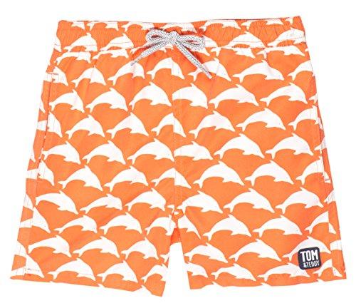 Tom & Teddy Toddler Boys' Dolphin, Orange/White, 1-2