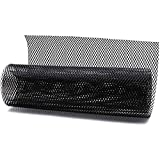 "AUTOT 40""x13"" Car Grill Mesh 6x3mm Aluminum Alloy Grille Mesh Sheet Rhombic Type Black"