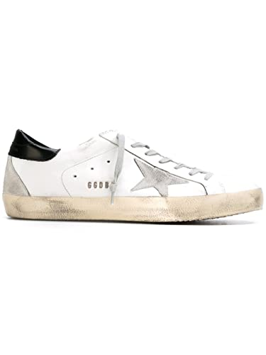 GOLDEN GOOSE HOMME G32MS592G4 BLANC CUIR BASKETS