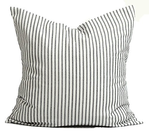72802d974088 Black Ticking Throw Pillow Cover, Decorative Pillow Cover, Ticking Stripe  Throw Pillow, Farmhouse Pillow, Any Size, Black Ticking Pillow, Black  Stripe ...