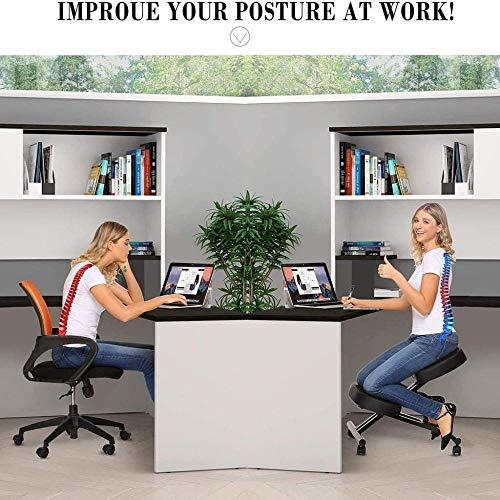 Knästol fuskläder tjocka bekväma gjutna skumkuddar korrekt hållning anti-närsynthet stol knästol