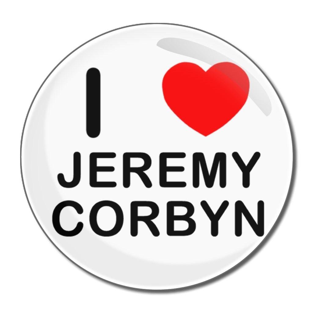 I love Jeremy Corbyn - 77mm Round Compact Mirror BadgeBeast.co.uk 77mir-jeremycorbyn