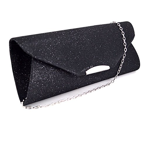 Black Evening Sling Bag body Mini 2384 Clutch Women Monique Chain Bag Handbag Bag Cross Bag SqB4wwH6