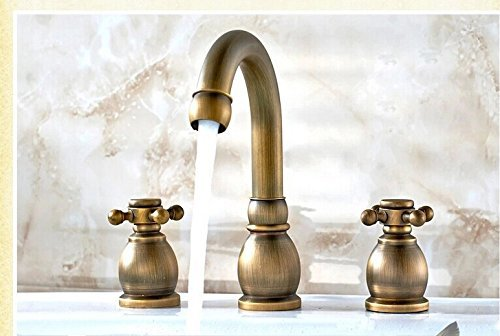 BL Modern retro Eight-inch three-hole lavatory faucet hot and cold continental antique vintage bathroom three piece set Sink faucet by BL faucets