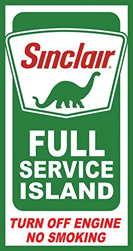 Desperate Sinclair Island Service Tin Sign 9 x 16in