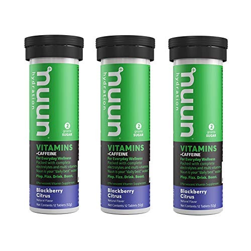 Citrus Blackberry - Nuun Vitamins + Caffeine: BlackBerry Citrus Supplement (3 Tubes of 12 Tabs)