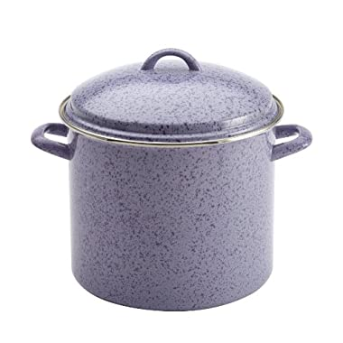 Paula Deen Signature Enamel on Steel 12-Quart Covered Stockpot, Lavender