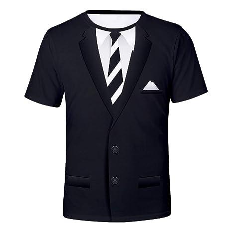 YKARITIANNA Traje y corbata impresos para hombre, camiseta de ...