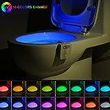 16-Color UV Sterilization Toilet Night Light Gadget,...