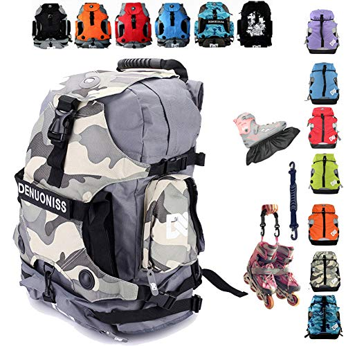 Denuoniss Professional Inline Skates Travel Backpack (#3 shoessize above 40/7)
