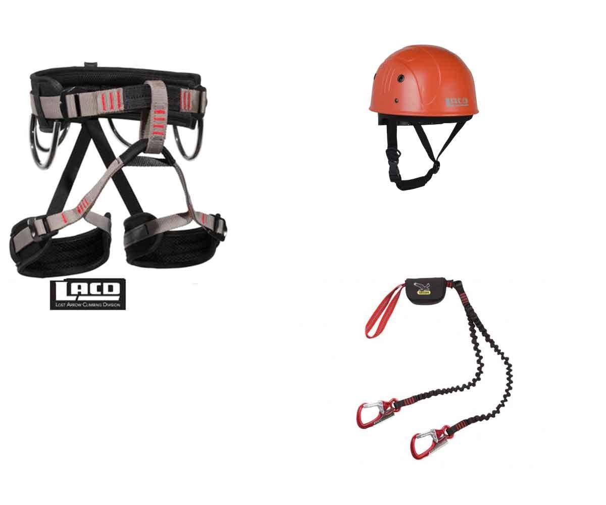 Klettersteigset Mit Helm Und Gurt : Klettersteigset mit gurt und helm größe s amazon sport