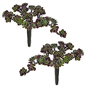 "Supla 2 Pcs Artificial Wedding Succulents Sedum Pick in Dusty Green - 5"" Wide 35"