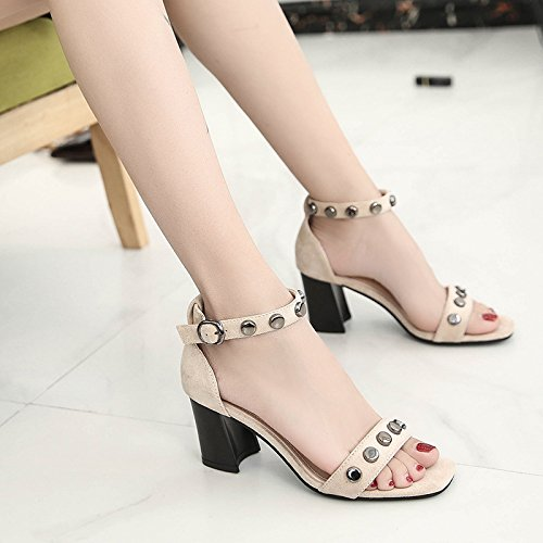 sandali dei dita seven Donyyyy Thirty le piedi alti e Trapano levigatura acqua tacchi di x0wBqz1