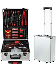 Tool box, Mechanical Tool kit General Household Hand Tool Sets Trolley Case, Portable House Repair Kit