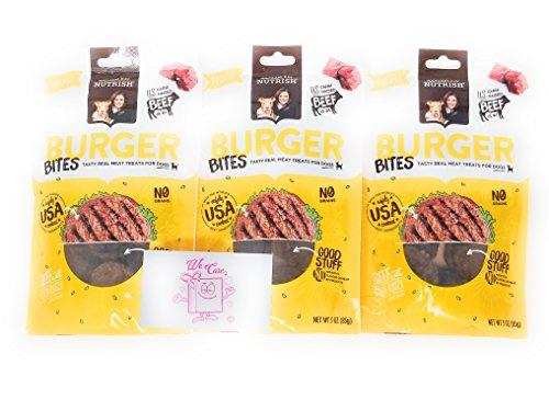 Rachael Ray Nutrish Dog Treats Burger Bites: 3 Pack Bundle