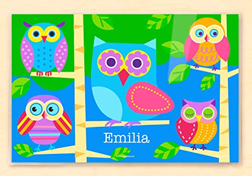Owl Personalized Placemat By Olive Kids