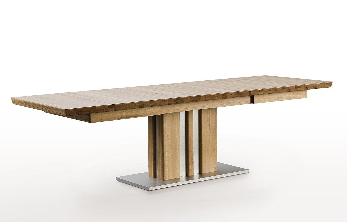 Esstisch ausziehbar  Robas Lund Tisch Esstisch Säulentisch Bolzano ausziehbar Kernbuche ...
