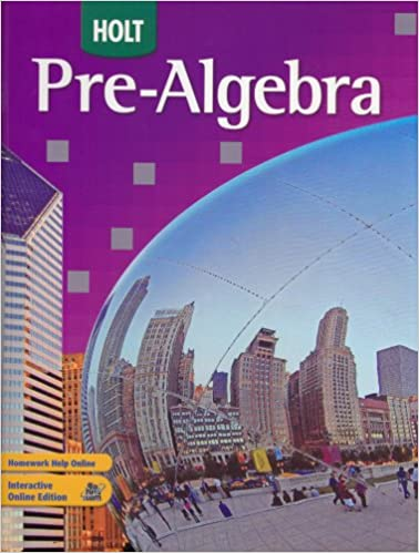 Printables Holt Pre Algebra Worksheets amazon com holt pre algebra 9780030934681 rinehart and winston algebra