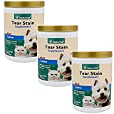 NaturVet Tear Stain Removal All Natural Powder Supplement Dog Cat 200 Gram 3PACK