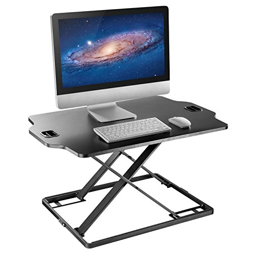 "Standing Desk Converter - Height Adjustable Sit to Stand Up Desk, Economic Tabletop Workstation Monitor Riser, Lift Height from 1.6"" to 16"""