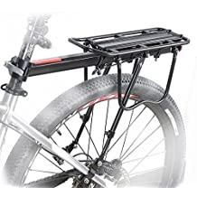 COMINGFIT® Adjustable 110 Lbs Capacity Aluminum Alloy Bicycle Rear Cargo Luggage Rack