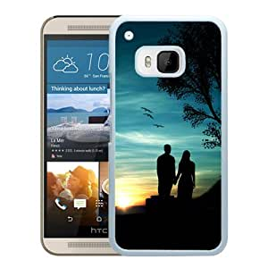 New Beautiful Custom Designed Cover Case For HTC ONE M9 With Romantic Sunset (2) Phone Case