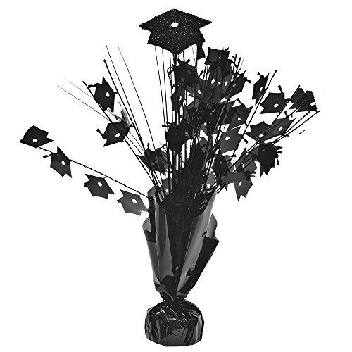 Black Graduation Cap Centerpieces pkg/6