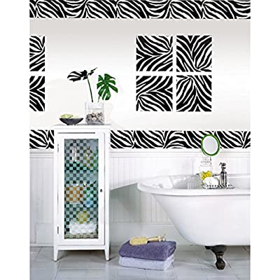 Wall Pops Peel and Stick Go Wild Zebra Decals
