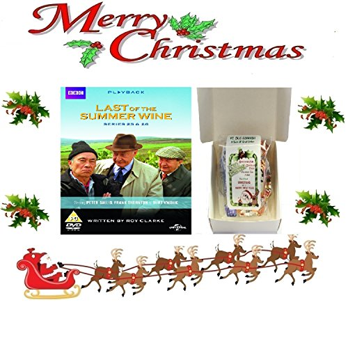 Peter Sweet Wine - Christmas Gift Pack - Last of the Summer Wine - Series 25-26 [NON USA FORMATTED VERSION REGION 2 DVD] + Ye Old Cornish Christmas Sweets Gift Bag