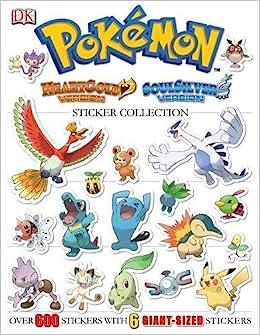 Pokemon HeartGold & SoulSilver Ultimate Sticker Book Pokémon ...