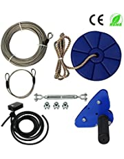 CTSC 95 Foot Zip Line Kit with Stainless Steel Spring Brake and Seat